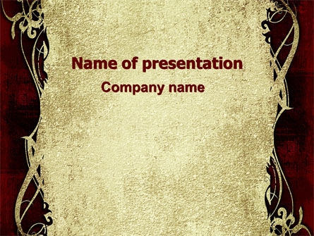 Faded Ornament PowerPoint Template