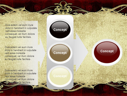 Faded Ornament PowerPoint Template Slide 11
