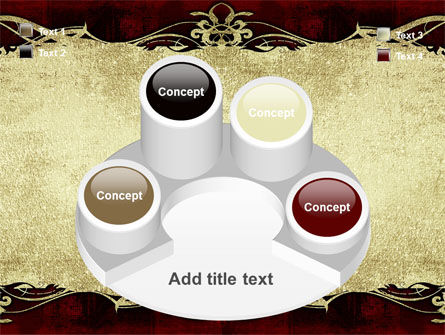 Faded Ornament PowerPoint Template Slide 12