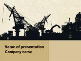 Utilities/Industrial: Industrial Silhouette PowerPoint Template #06216