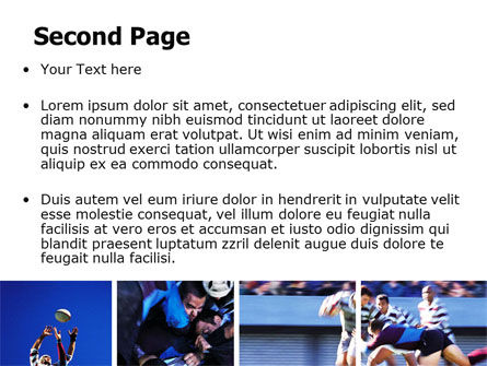 Rugby Collage PowerPoint Template, Slide 2, 06219, Sports — PoweredTemplate.com