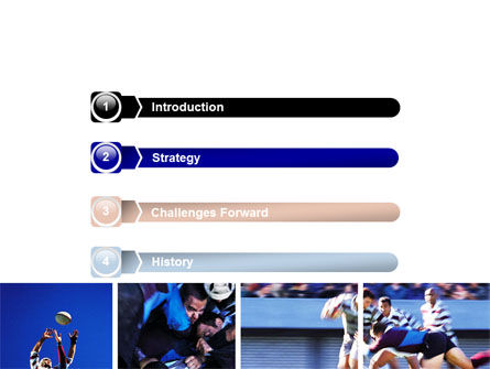 Rugby Collage PowerPoint Template, Slide 3, 06219, Sports — PoweredTemplate.com