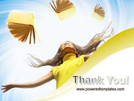 Girl With Books PowerPoint Template Slide 20