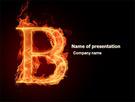 B Letter PowerPoint Template, 06221, Abstract/Textures — PoweredTemplate.com