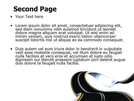 High Way PowerPoint Template, Slide 2, 06225, Construction — PoweredTemplate.com
