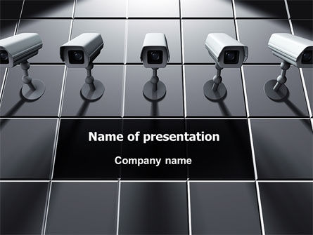 Monitoring Camera PowerPoint Template, 06226, Careers/Industry — PoweredTemplate.com