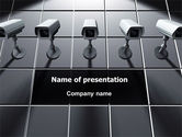 Careers/Industry: Monitoring Camera PowerPoint Template #06226