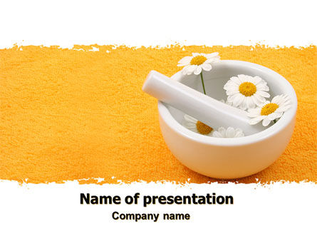 Medical: Herbal Medicine PowerPoint Template #06227