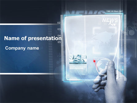 Technology and Science: High Tech PowerPoint Template #06229