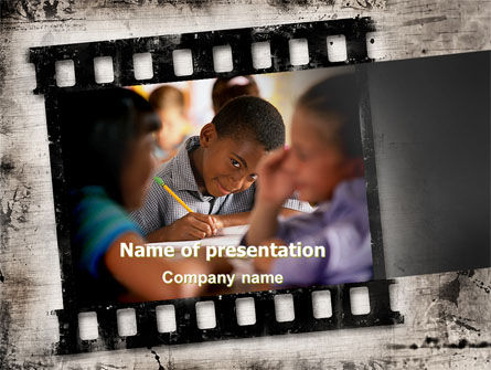 Back To School Pupil PowerPoint Template, 06230, Education & Training — PoweredTemplate.com