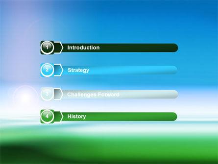 Abstract Blur PowerPoint Template, Slide 3, 06231, Abstract/Textures — PoweredTemplate.com