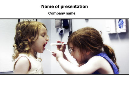 Medical: Children's Dental Health PowerPoint Template #06232