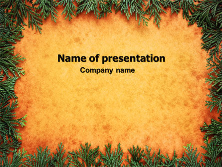 Green Plants Pattern PowerPoint Template