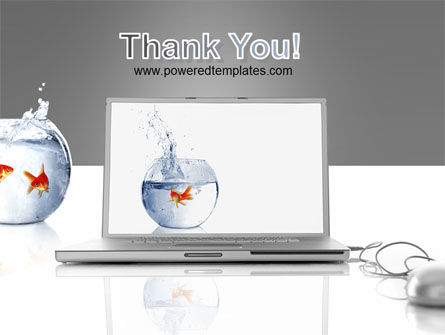 Golden Fish On The Laptop PowerPoint Template Slide 20