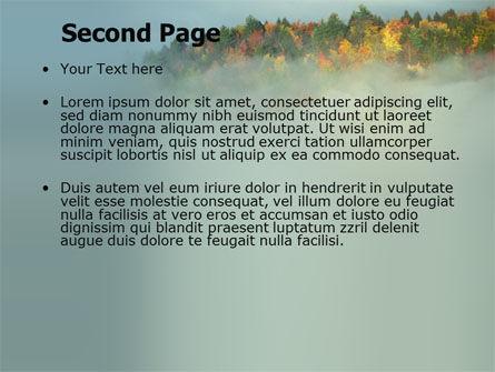 Autumn Mountain View PowerPoint Template, Slide 2, 06237, Nature & Environment — PoweredTemplate.com