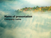 Nature & Environment: Autumn Mountain View PowerPoint Template #06237