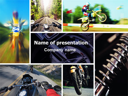 Cross-country Bike PowerPoint Template