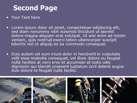 Cross-country Bike PowerPoint Template Slide 2