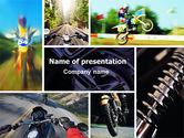 Sports: Cross-country Bike PowerPoint Template #06240