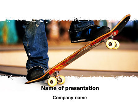 Skateboarder PowerPoint Template, 06241, Sports — PoweredTemplate.com
