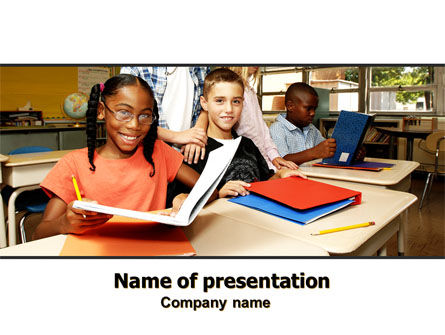 Back-To-School PowerPoint Template, 06244, Education & Training — PoweredTemplate.com