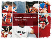 Sports: Football Fans Free PowerPoint Template #06249