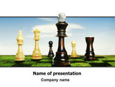 Business Concepts: Chess King PowerPoint Template #06250