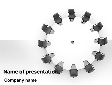 Round Table PowerPoint Template, 06251, Business — PoweredTemplate.com