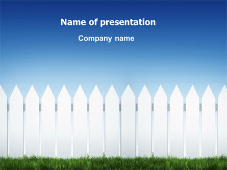 Construction: Wooden Fence PowerPoint Template #06252