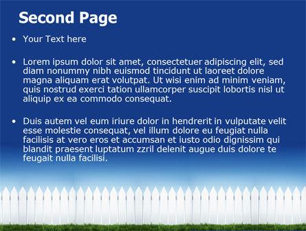 Wooden Fence PowerPoint Template, Slide 2, 06252, Construction — PoweredTemplate.com