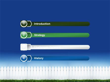 Wooden Fence PowerPoint Template, Slide 3, 06252, Construction — PoweredTemplate.com