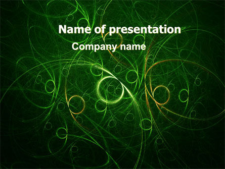 Green Abstract Lines PowerPoint Template