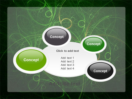 Green Abstract Lines PowerPoint Template Slide 16