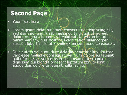 Green Abstract Lines PowerPoint Template Slide 2