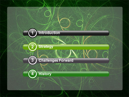 Green Abstract Lines PowerPoint Template Slide 3