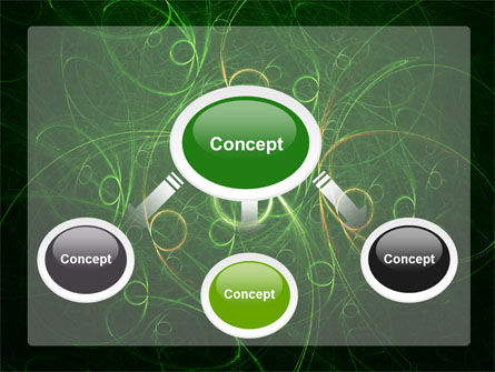 Green Abstract Lines PowerPoint Template Slide 4