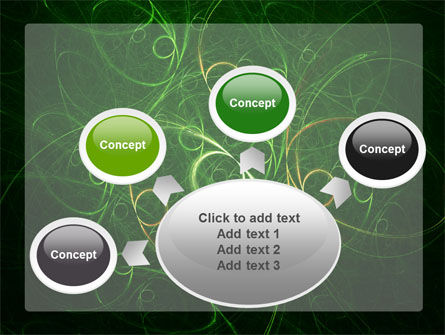 Green Abstract Lines PowerPoint Template Slide 7