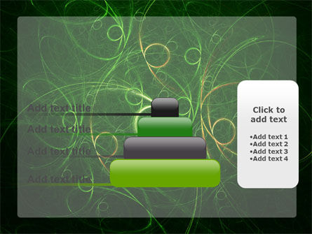 Green Abstract Lines PowerPoint Template Slide 8