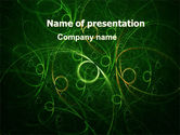 Abstract/Textures: Green Abstract Lines PowerPoint Template #06253