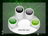 Green Abstract Lines PowerPoint Template#12