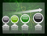 Green Abstract Lines PowerPoint Template#13