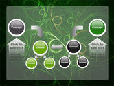 Green Abstract Lines PowerPoint Template#19