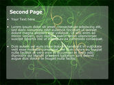 Green Abstract Lines PowerPoint Template#2