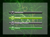 Green Abstract Lines PowerPoint Template#3