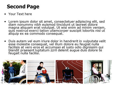 Disabled People PowerPoint Template, Slide 2, 06256, Sports — PoweredTemplate.com