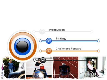 Disabled People PowerPoint Template, Slide 3, 06256, Sports — PoweredTemplate.com