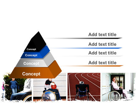 Disabled People PowerPoint Template, Slide 4, 06256, Sports — PoweredTemplate.com