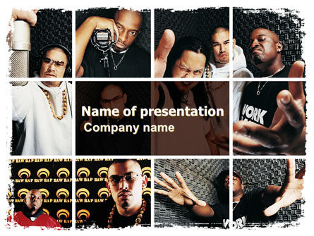 Rappers PowerPoint Template, 06257, Art & Entertainment — PoweredTemplate.com