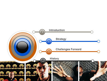 Rappers PowerPoint Template, Slide 3, 06257, Art & Entertainment — PoweredTemplate.com