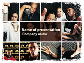 Art & Entertainment: Rappers PowerPoint Template #06257